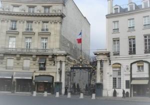 ministère de l'intérieur, place Beauvau, où Matthieu Seingier, avocat en fonction publique à exercer